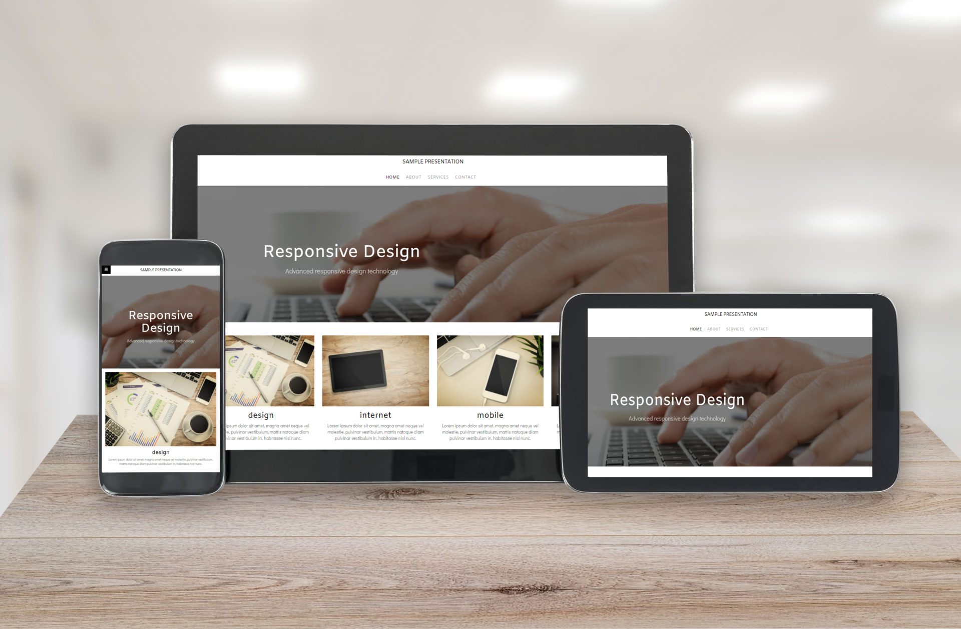 Responsive design technology