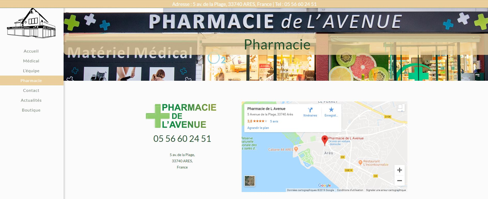 Pharmacie Ares contact
